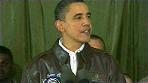 US President Barack Obama at Bagram Air Base
