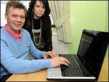 broadband's first customer in the UK