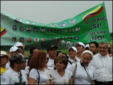 Colombians for Peace celebrate