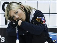 Eve Muirhead looks downcast during the final