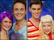 Gary Lucy and Kieron Richardson with their skating partners