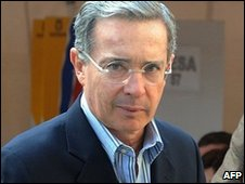 Alvaro Uribe - file photo