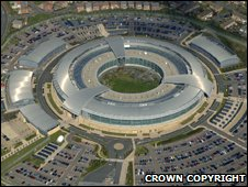 An aerial view of the GCHQ Benhall complex in Cheltenham