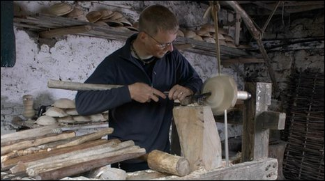 Robin Wood at his lathe