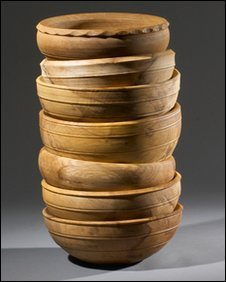 Robin Wood's handcrafted wooden bowls