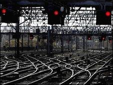 Rail tracks near Glasgow Central Station