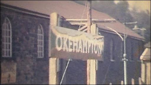 Okehampton train station 1965