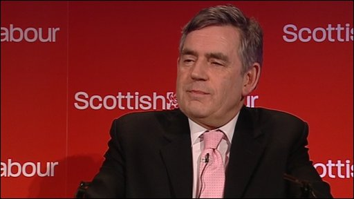 Gordon Brown, speaking at the Scottish Labour conference