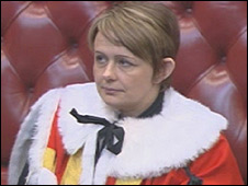 Baroness Grey-Thompson takes her oath in the House of Lords
