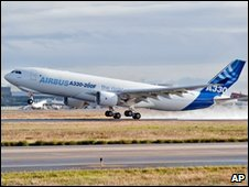 Airbus A330-200 on test flight