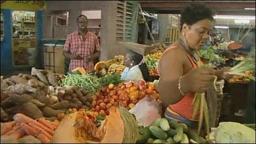 Papine fruit and veg market in Jamaica