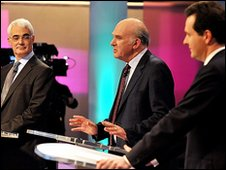 The three men at the chancellors' debate