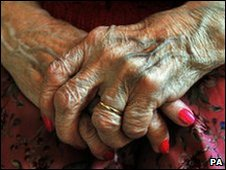 Elderly woman's hands