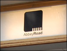 Sign over door at Abbey Road studios