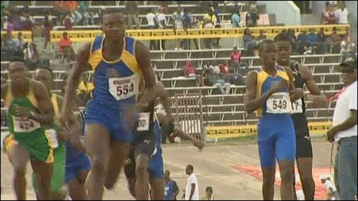 Relay at the Jamaican Boys and Girls Athletics Championships