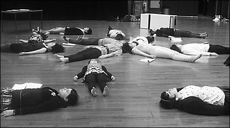 Rehearsals of adult child/dead child