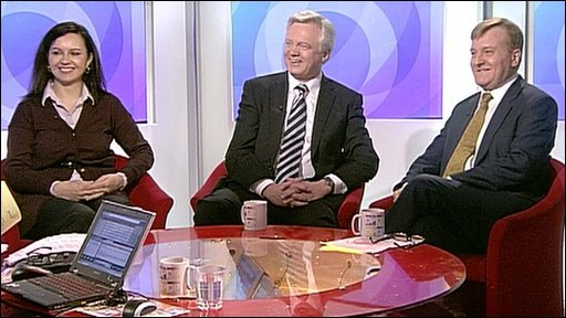 Caroline Flint, David Davis and Charles Kennedy