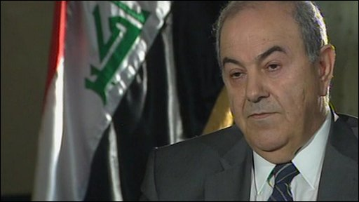 Iyad Allawi, the man who won Iraq's parliamentary elections, has accused Iran of trying to prevent him from becoming prime minister