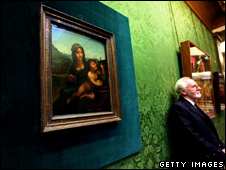 The painting is now being exhibited in the National Gallery in Edinburgh