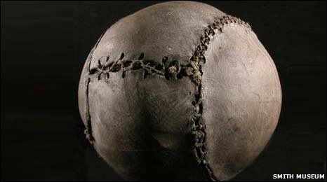 The world's oldest football (Smith Art Gallery and Museum)