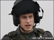 Prince William/Flt Lt Wales. Pic: AFP/Getty Images