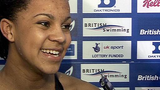 50m breaststroke winner Achieng Ajulu-Bushell