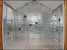Interior of one of the sensory sheds