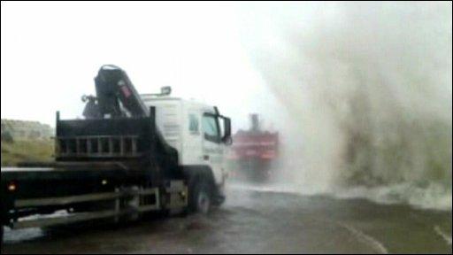 Leith docks wave