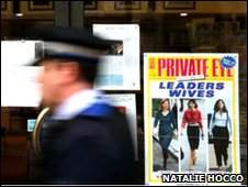 Photograph by Natalie Hocco. Leaders Wives, Private Eye front page