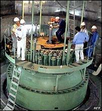 Bushehr nuclear reactor, Iran: file pic