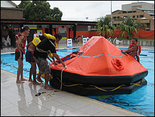 Maritime safety drill