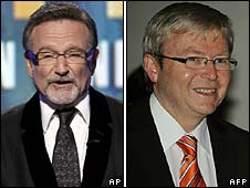 Robin Williams and Kevin Rudd