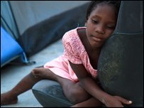 An orphan in Haiti