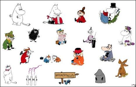 Moomin characters (Moomin.com image)