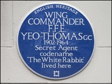 Yeo-Thomas blue plaque