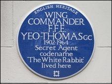Yeo-Thomas blue plaque