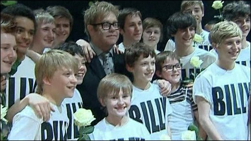 Sir Elton John and Billy Elliot cast