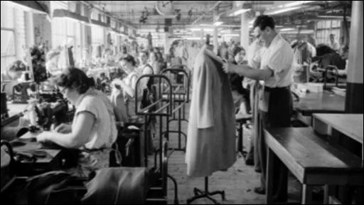 A factory in the south Wales valleys employing Jewish refugees