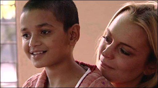 Lindsay Lohan with Deena