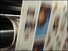 Newspaper printing press (file photo)
