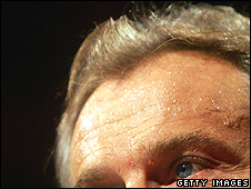 Tony Blair sweating