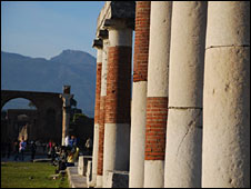 Pillars at Pompeii