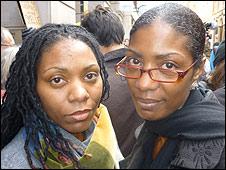 Samantha Rigg-David (left), and sister Marcia Rigg