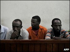 Suspected Somali pirates in a Kenyan court. File photo