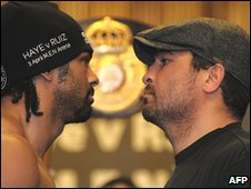 David Haye (left) and John Ruiz