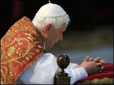Pope Benedict in St Peter's Basilica