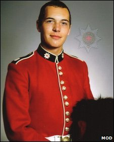 Guardsman Michael Sweeney (Copyright: MoD)