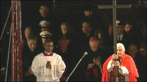 Pope Benedict presides over the Way of the Cross