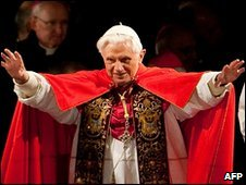 Pope Benedict at the Way of the Cross procession