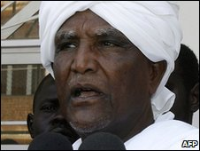 Sudanese electoral commission official Abdullah Ahmed Abdullah in Khartoum, 3 April 2010